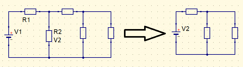Substitution by voltage source