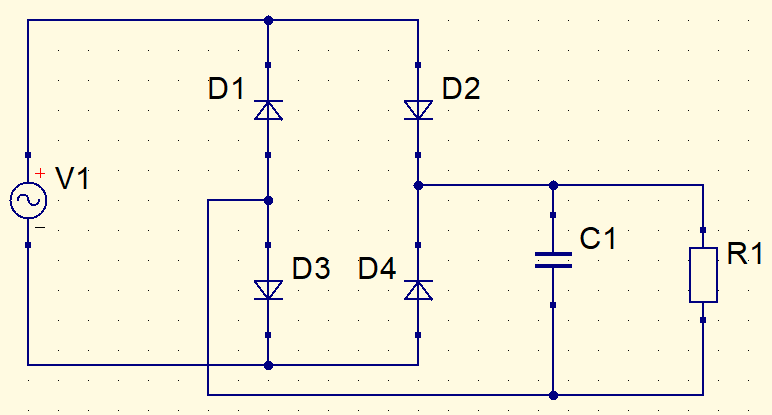 DC source with resistor