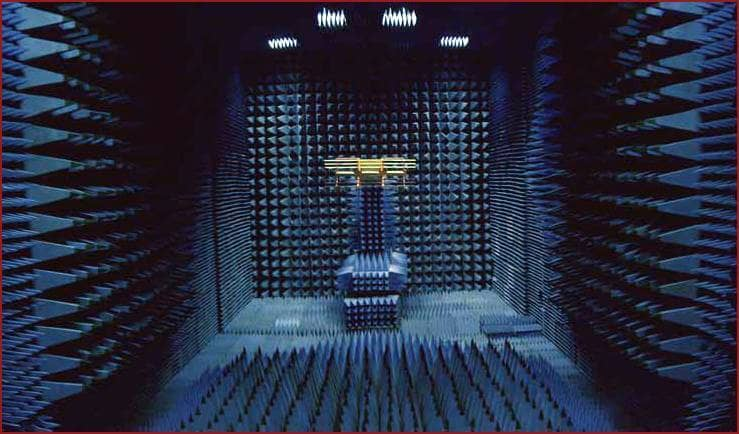 anechoic chamber against electromagnetic interference