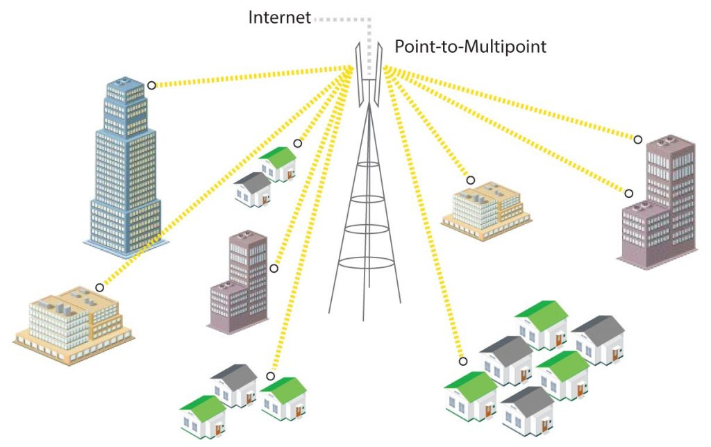 Point-to-multipoint network
